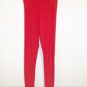 Lularoe Solid Red Tween Leggings- Tween